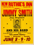 Music Memorabilia:Posters, Jimmy Smith New Ruthie's Inn Concert Poster (circa 1971). Very Rare. ...