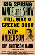 Music Memorabilia:Posters, Kip Anderson Greene Door Concert Poster (1966) Extremely Rare....