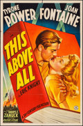 "Movie Posters:War, This Above All (20th Century Fox, 1942). One Sheet (27"" X 41"")Style B. War.. ..."