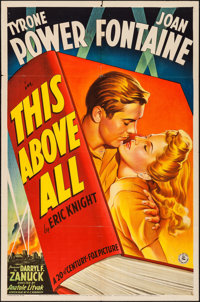 """This Above All (20th Century Fox, 1942). One Sheet (27"""" X 41"""") Style B. War"""