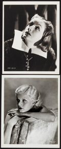 """Movie Posters:Drama, Greta Garbo In Queen Christina & Other Lot (MGM, c. 1933). Portrait Photo & Restrike Photo (8"""" X 10""""). Drama.. ... (Total: 2 Items)"""