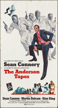 "The Anderson Tapes (Columbia, 1971). Folded, Fine+. Three Sheet (41"" X 76.5""). Crime"