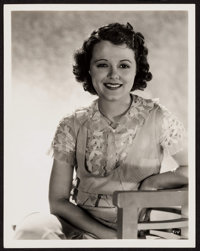 "Janet Gaynor by George Hurrell (Fox, c. 1930s). Portrait Photo (8"" X 10). Miscellaneous"