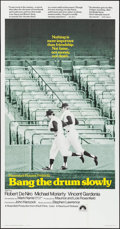 "Movie Posters:Sports, Bang the Drum Slowly (Paramount, 1973). Three Sheet (41"" X 79"").Sports.. ..."