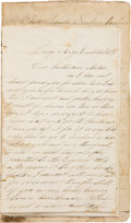 Autographs:Military Figures, Frank W. Hemenway Group of War Letters (8) Signed...
