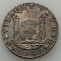 """Mexico, Mexico: Philip V """"Auguste-Recovered"""" 8 Reales 1747 Mo-MF VF -Corroded,..."""