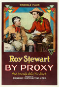 "Movie Posters:Western, By Proxy (Triangle, 1918). One Sheet (27.5"" X 41"").. ..."