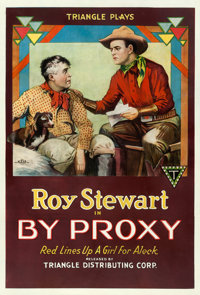 "By Proxy (Triangle, 1918). One Sheet (27.5"" X 41"")"