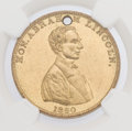 """Political:Tokens & Medals, Abraham Lincoln: The Classic """"Railsplitter"""" 1860 Campaign Medalet...."""