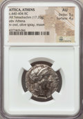 Ancients:Greek, Ancients: ATTICA. Athens. Ca. 440-404 BC. AR tetradrachm (17.20gm). NGC AU 5/5 - 4/5....