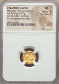 Ancients:Byzantine, Ancients: Heraclius (AD 610-641) & Heraclius Constantine (AD613-641). AV solidus (4.47 gm). NGC MS 3/5 - 4/5. ...