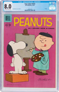 Silver Age (1956-1969):Humor, Four Color #1015 Peanuts (Dell, 1959) CGC VF 8.0 Off-white to white pages....
