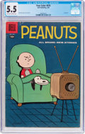 Silver Age (1956-1969):Cartoon Character, Four Color #878 Peanuts (Dell, 1958) CGC FN- 5.5 Off-white to white pages....