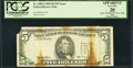 Error Notes:Foldovers, Printed Fold Over Error Fr. 1985-J $5 1995 Federal Reserve Note.PCGS Apparent Very Fine 20.. ...