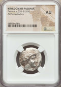 Ancients:Greek, Ancients: PAEONIAN KINGDOM. Patraus (335-315 BC). AR tetradrachm.NGC AU....