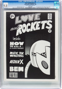 Love and Rockets B&W #1 (Hernandez Brothers, 1981) CGC NM/MT 9.8 White pages