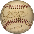 Baseball Collectibles:Balls, 1939 New York Giants Team Signed Baseball....