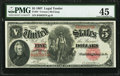 Large Size:Legal Tender Notes, Fr. 84 $5 1907 Legal Tender PMG Choice Extremely Fine 45.