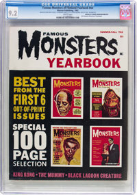 Famous Monsters of Filmland Yearbook 1962 Manufacturing Error/Incomplete (Warren, 1962) CGC NM- 9.2 White pages