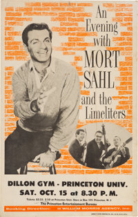 Mort Sahl And The Limeliters Dillon Gym Concert Poster (1966). Very Rare
