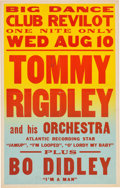 Music Memorabilia:Posters, Bo Diddley Club Revilot Concert Poster (1955). Extremely Rare....