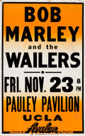 Music Memorabilia:Posters, Bob Marley And The Wailers Pauley Pavilion Concert Poster (AvalonAttractions, 1979). Very Rare....