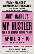 Music Memorabilia:Posters, Andy Warhol My Hustler Film-Maker's Cinemateque Poster(1966). Very Rare....