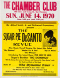 Music Memorabilia:Posters, Sugar Pie De Santo Chamber Club Concert Poster (Alfred Smith Jr. & Driftwood Promotions, 1970). Very Rare....