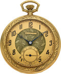 Timepieces:Pocket (post 1900), Dudley Watch Co. 14k Gold Model No. 1, circa 1920. ...