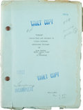 "Movie/TV Memorabilia:Documents, A Script from ""Freaks.""..."