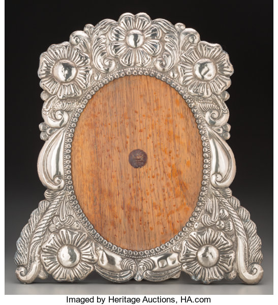 A Large Mexican Silver And Oak Frame Mid 20th Century Lot 74407