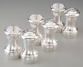 Silver Holloware, French:Holloware, Three Pairs of Cartier Silver Salt and Pepper Shakers, 20thcentury. Marks: Cartier, STERLING. 4 inches high (10.2 cm)(... (Total: 3 Items)