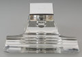 Silver Holloware, American:Desk Accessories, A William B. Kerr & Co. Silver and Glass Inkwell, Newark, NewJersey, circa 1920. Marks: (fasces), STERLING, (various)....