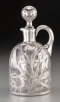 Silver Holloware, American:Other , An American Glass Decanter with Gorham Silver Overlay, circa 1910.Marks: (lion-anchor-G), D1086. 8-1/2 inches high (21....