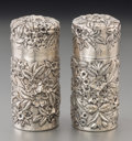Silver Holloware, American:Other , A Pair of S. Kirk & Son Co. Silver Pepper Shakers, Baltimore,Maryland, circa 1896-1924. Marks: S KIRK & SON CO,925/1000... (Total: 2 Items)