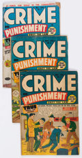 Golden Age (1938-1955):Crime, Crime and Punishment Group of 9 (Lev Gleason, 1948-50) Condition: Average GD+.... (Total: 9 Comic Books)