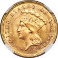 Three Dollar Gold Pieces, 1879 $3 MS65+ NGC....