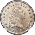 Early Dollars, 1795 $1 Flowing Hair, Two Leaves, B-9, BB-13, R.4, MS62 NGC....