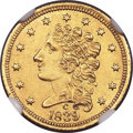 Classic Quarter Eagles, 1839-C $2 1/2 -- Improperly Cleaned -- NGC Details. Unc. Breen-6149, Winter-3, Variety 24, R.4....