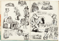 Robert Crumb - Complete Sketchbook Original Art (c. 1970)