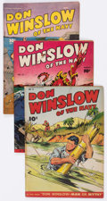 Golden Age (1938-1955):War, Don Winslow of the Navy Group of 5 (Fawcett Publications, 1946-47)Condition: Average VG.... (Total: 5 Comic Books)