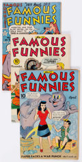 Golden Age (1938-1955):Miscellaneous, Famous Funnies Group of 8 (Eastern Color, 1943-50) Condition: Average GD/VG.... (Total: 8 Comic Books)