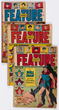 Golden Age (1938-1955):Miscellaneous, Feature Comics Group of 6 (Quality, 1945-48) Condition: Average GD.... (Total: 6 Comic Books)