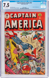 Captain America Comics #53 (Timely, 1946) CGC VF- 7.5 Off-white pages