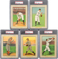 Baseball Cards:Lots, 1910-11 T3 Turkey Red PSA-Graded Group (5). ...