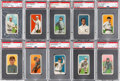 Baseball Cards:Lots, 1909-11 T206 Piedmont PSA EX 5 Graded Collection (10). ...