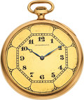 """Timepieces:Pocket (post 1900), Waltham 14k Gold Riverside """"A"""" Special Setting Case. ..."""