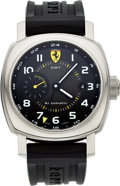 Timepieces:Wristwatch, Panerai Ferrari GMT Steel Automatic F6655. ...