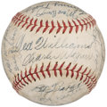 Autographs:Baseballs, 1946 Boston Red Sox Team Signed Baseball (30 Signatures) - AmericanLeague Pennant Winning Season!...