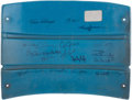 Autographs:Baseballs, New York Yankees Multi-Signed Original Stadium Seatback. ...